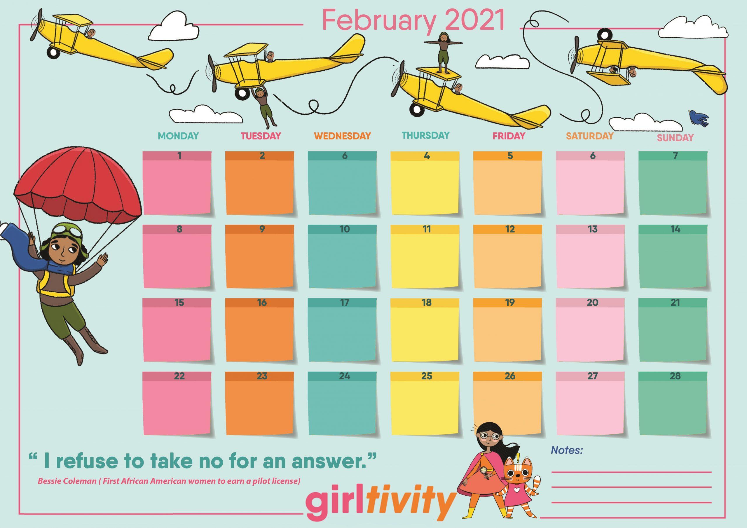 STEAMED UP Calendar 2021 February